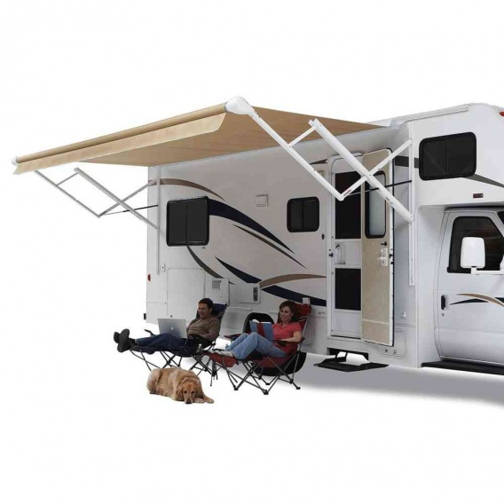 Buy Carefree OVJVAPHW Travel'r Electric Awning Arms Black Standard