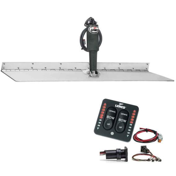 "Buy Lenco Marine TT12X18SSI 12"" x 18"" Super Strong Trim Tab Kit w/LED"