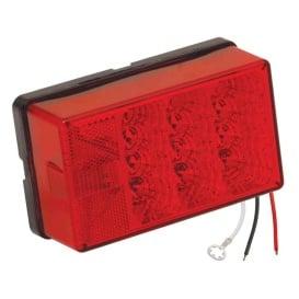 """Buy Wesbar 407555 4"""" x 6"""" Waterproof LED 8-Function, Left/Roadside w/3"""