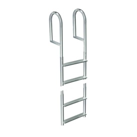 Buy Dock Edge 2014-F Welded Aluminum Fixed 4 Step Ladder - Anchoring and