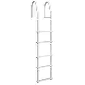 Buy Dock Edge 2105-F Fixed 5 Step Ladder Bight White Galvalume - Anchoring