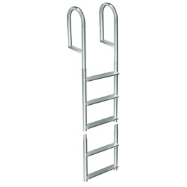 Buy Dock Edge 2015-F Welded Aluminum Fixed 5 Step Ladder - Anchoring and