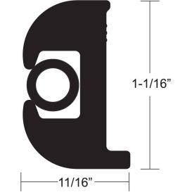 Buy TACO Marine V11-0809BBK50-2 Flex Vinyl Rub Rail Kit - Black w/Black