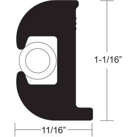 Buy TACO Marine V11-0809BWK50-2 Flex Vinyl Rub Rail Kit - Black w/White