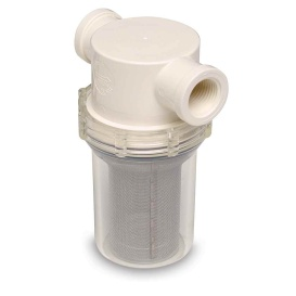"Buy Shurflo 253-221-01 3/4"" Raw Water Strainer w/Bracket & Fittings - 50"
