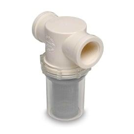 "Buy Shurflo 253-321-01 1"" Raw Water Strainer w/Bracket & Fittings - 50"