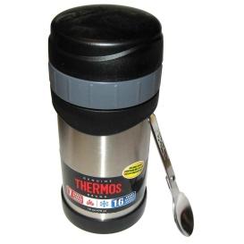 Buy Thermos 2340TRI6 Stainless Steel Food Jar w/Folding Spoon - 16 oz. -