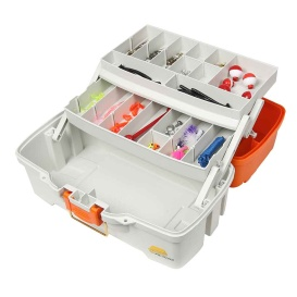 Buy Plano 620210 Ready Set Fish Two-Tray Tackle Box - Orange/Tan - Outdoor