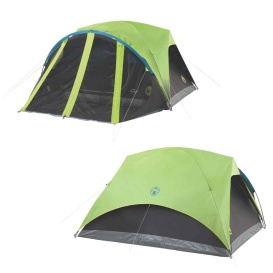 Buy Coleman 2000033189 Carlsbad 4-Person Darkroom Tent w/Screen Room -