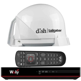 DISH  Tailgater  Satellite TV Antenna Bundle w/DISH  Wally  HD Receiver  &  Cables