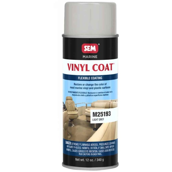 Buy SEM M25193 Vinyl Coat - Light Grey - 12oz - Boat Outfitting Online|RV