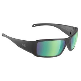 Buy H2Optix H2020 Stream Sunglasses Matt Black, Brown Green Flash Mirror