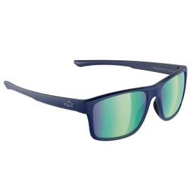 Buy H2Optix H2033 Coronado Sunglasses Navy-Matte, Green Flash Mirror Lens