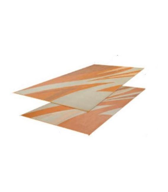 Patio Mat Summer Waves 8X16 Tan Gold