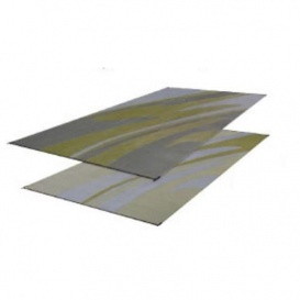Buy Faulkner 46362 Patio Mat Mirage 8X20 Silver Gold - Camping and