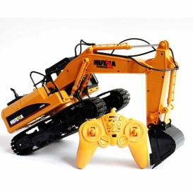 Buy Huina 1550 2.4 Ghz 15 Ch Rc 1:16 Die-Cast Excavator - Drones and RC