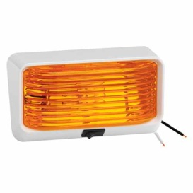 Buy Bargman 30-78-518 Amber Porch Light White/Switch - Lighting Online|RV