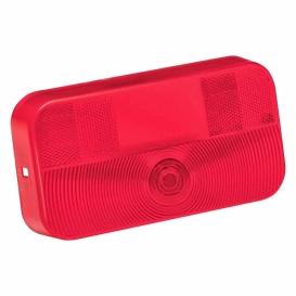 Buy Bargman 30-92-708 Tail Light Lens Red W/License - Lighting Online RV