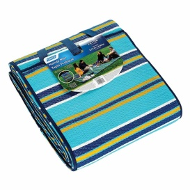 Handy Mat W/Strap, 9'X12', Lt.Blue/Orange/Navy