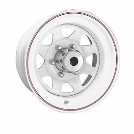 Buy Ceco CD704634 8 Spoke Series 70 14X6 5-120.7 0P C3.30 White - Wheels