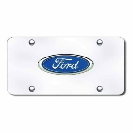 Buy Ford Chrome Logo On Chr.Pla Automotive Gold FOR.CC - License Plates