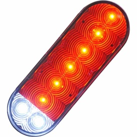 Buy Jammy J-68-RH4 Red 6€ Oval Led S/T/T & Backup, Hardwired, 4 Wires