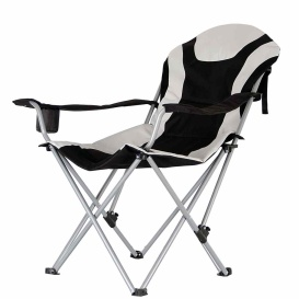 Buy Mings Mark 36028 Foldable Recliner Camp Chair Blk/Gry - Patio Chairs