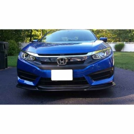 Buy CLA 46-CV1617-1GT-P Front Lip Black Honda Civic 16-17 - Spoilers