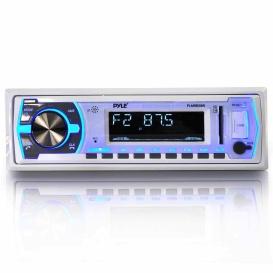 Buy Pyle PLMRB29W Am/Fm/Mp3/Usb Marine Bluetooth Receiver (White) - Marine