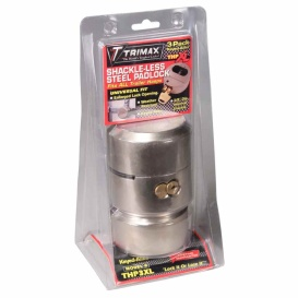 "Buy Trimax THP3XL-KEY1254 Harden Steel Lock 3/8"" 3 Pack Key1254 - Doors"