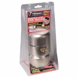 "Buy Trimax THP3XL-KEY1264 Harden Steel Lock 3/8"" 3 Pack Key1264 - Doors"