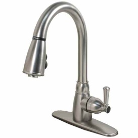 Pull Down Faucet With Plate