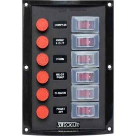 Buy Sea-Dog 424116-1 Splash Guard Switch Panel Vertical - 6 Switch -