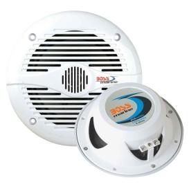 """Buy Boss Audio MR60W MR60W 6.5"""" Round Marine Speakers - (Pair) White -"""
