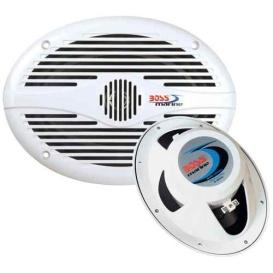 "Buy Boss Audio MR690 MR690 6"" x 9"" Oval Marine Speakers - (Pair) White -"