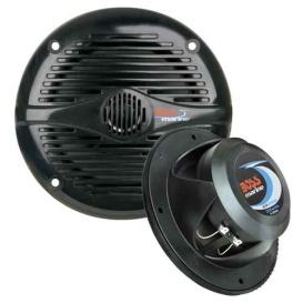 """Buy Boss Audio MR50B MR50B 5.25"""" Round Marine Speakers - (Pair) Black -"""