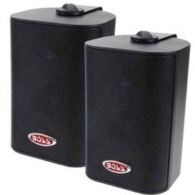 """Buy Boss Audio MR4.3B MR4.3B 4"""" 3-Way Marine Box Speakers (Pair) - 200W -"""