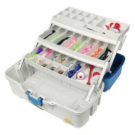 Buy Plano 620310 Ready Set Fish Three-Tray Tackle Box - Aqua Blue/Tan -