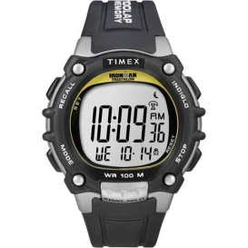 Buy Timex T5E231 Ironman Traditional 100-Lap - Black/Silver/Yellow Watch -