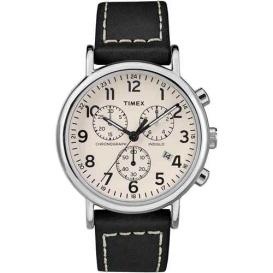 Buy Timex TW2R42800JV Men's Weekender Chronograph 40mm Watch - White