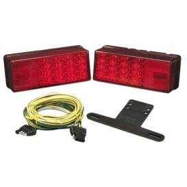 "Buy Wesbar 407540 3"" x 8"" Waterproof LED Over 80"" Trailer Light Kit - Boat"