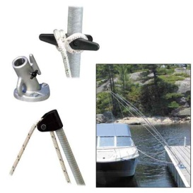 Buy Dock Edge 3400-F Premium Mooring Whips 2PC 12ft 5,000 LBS up to 23ft -