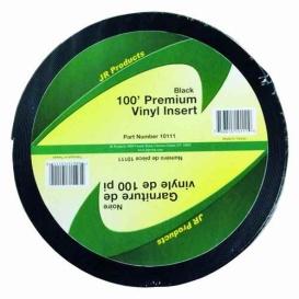 "Buy JR Products 10111 1""X100' Premium Vinyl Insert, Black - Hardware"