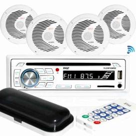 """Buy Pyle PLCDBT85MRW (4) Marine Radio+Speakers 6.5"""" - Marine Audio Video"""