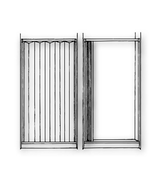 Buy Irvine Shade 3667SI Folding Shower Door Ivory 36 X 67 - Tubs and