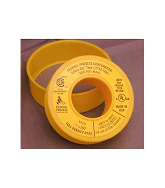 Buy Federal Process YT7024 Corporation Yellow Teflon Tape Gas Applications
