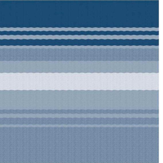 Buy Carefree 86188E00 Fiesta Awning Roller/Fabric 18' Ocean Blue/White -