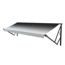 Classic Solera Manual Roller/Fabric 13 ft. Black Fade