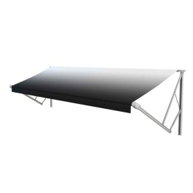 Classic Solera Manual Roller/Fabric 15 ft. White Fade