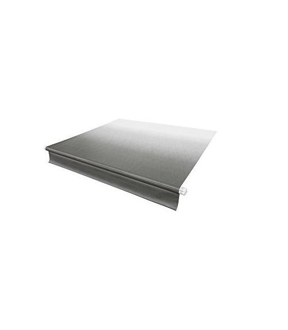 Classic Solera Manual Roller/Fabric 16 ft. White Fade